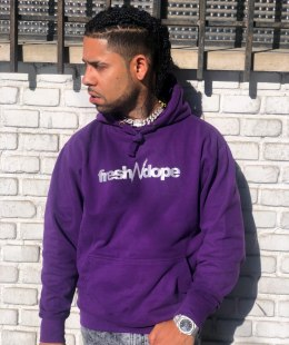 "Hoodie Fresh N Dope ""Purple Dope"" Reflective"